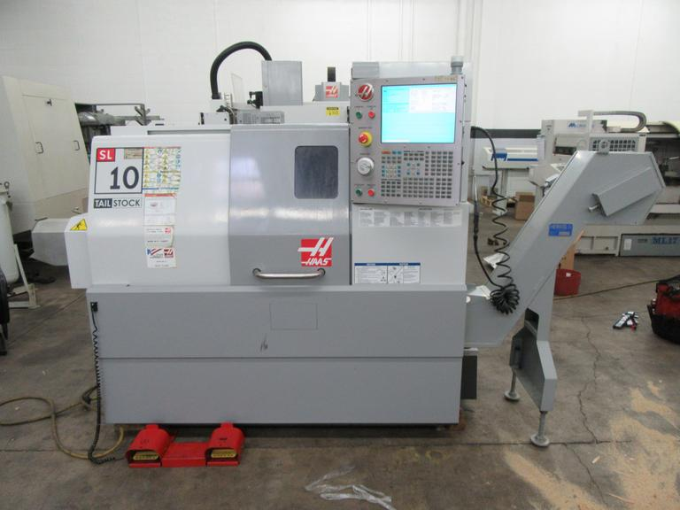 Haas SL-10 CNC Turning Center with Tailstock and Chip Conveyor, LIKE NEW!! 632 Spindle Hours!!