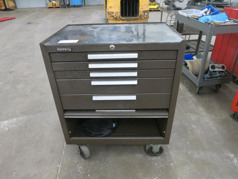 Kennedy Portable Tool Cabinet with 5 Drawers and Base Cabinet