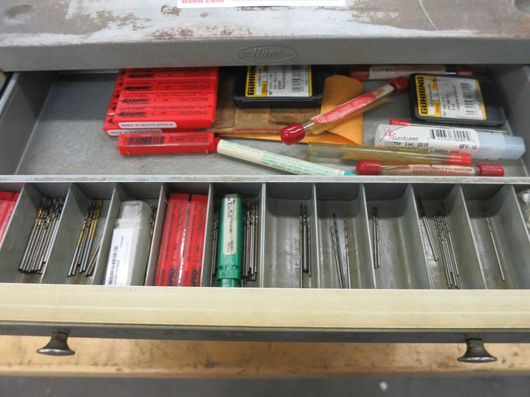 Huot 5 Drawer Metric Drill Index With Contents