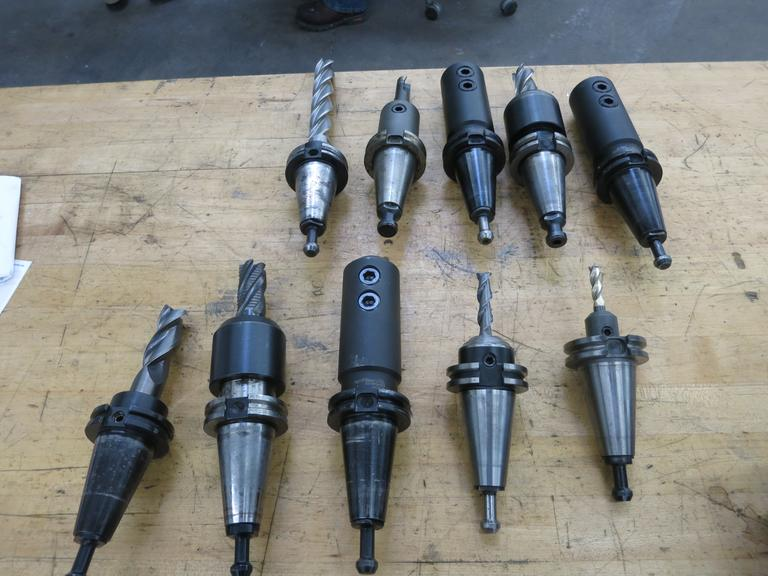 (10) Cat 40 Endmill Tool Holders