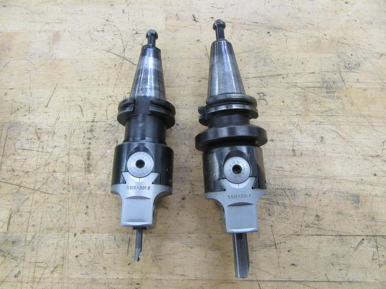 (2) Cat 40 Taper Criterion Offset Boring Heads