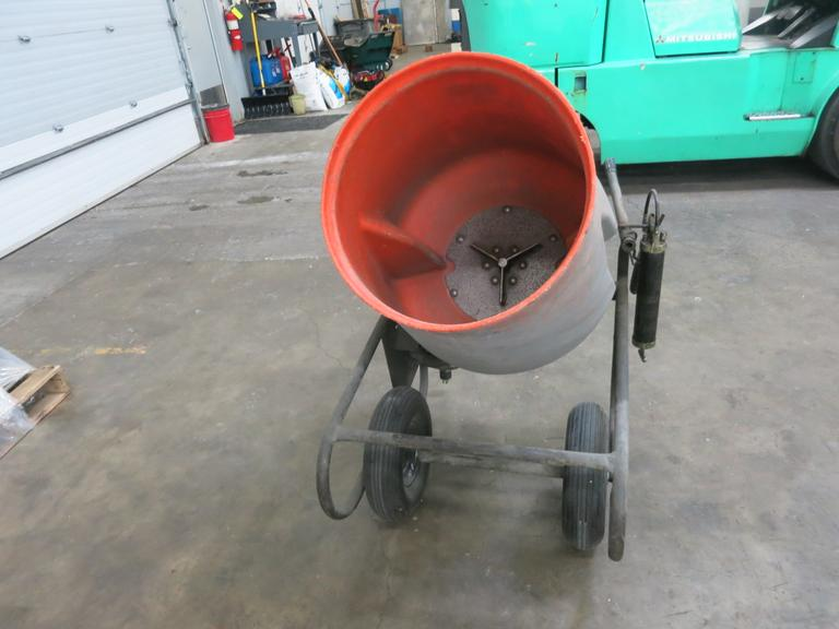 Portable Cement Mixer, Single Phase Motor