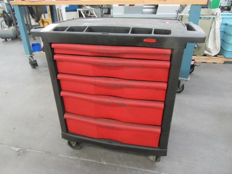 machines used rubbermaid 5 drawer rolling tool cart. Black Bedroom Furniture Sets. Home Design Ideas