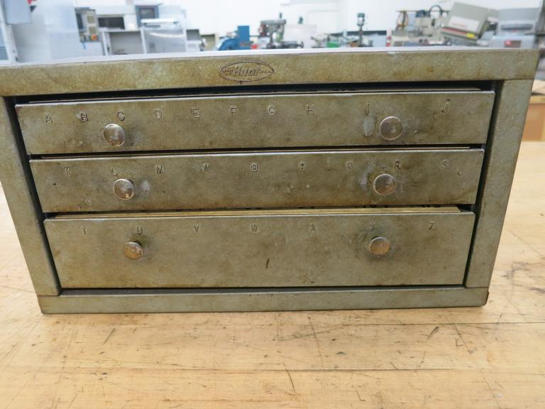 Huot Lettered Drill Index, 3 Drawer With Contents