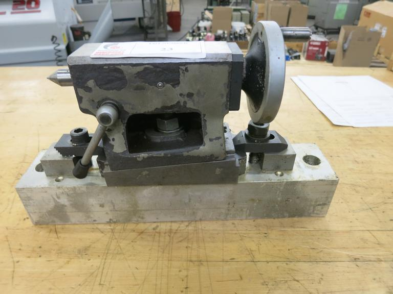 Adjustable Height Tailstock with Dead Center, Riser Block Base