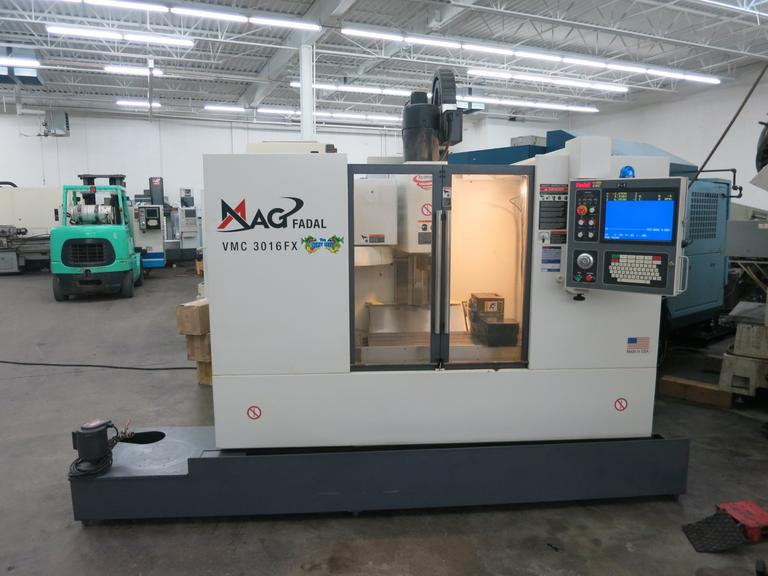 Fadal VMC3016 FX 4-Axis CNC Vertical Machining Center with Fadal Multiprocessor CNC Control and Fadal VH65 Rotary Table