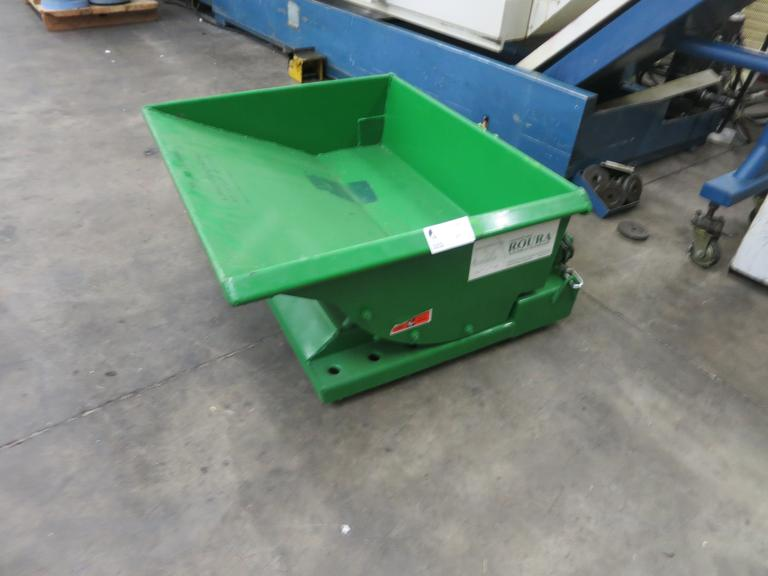 Roura Model 1T-12-034 Tilting Portable 1/8 Yard Scrap Hopper
