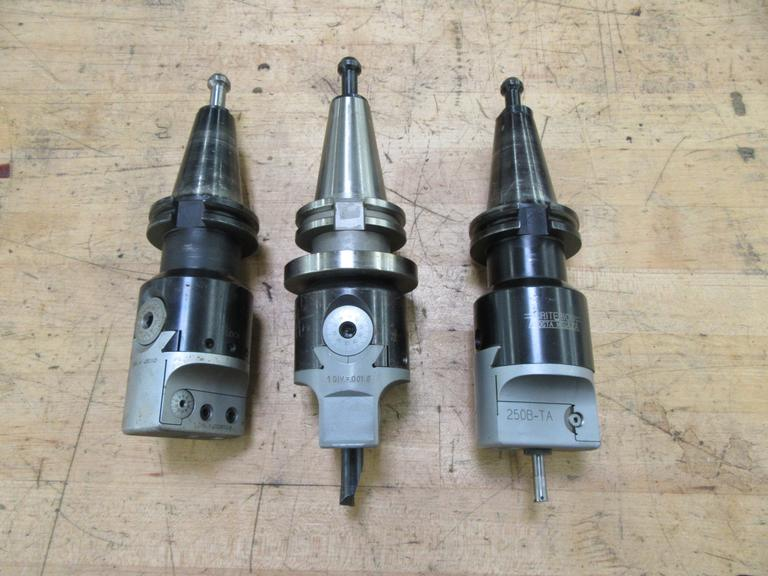(3) Cat 40 Taper Criterion Offset Boring Head Tool Holders