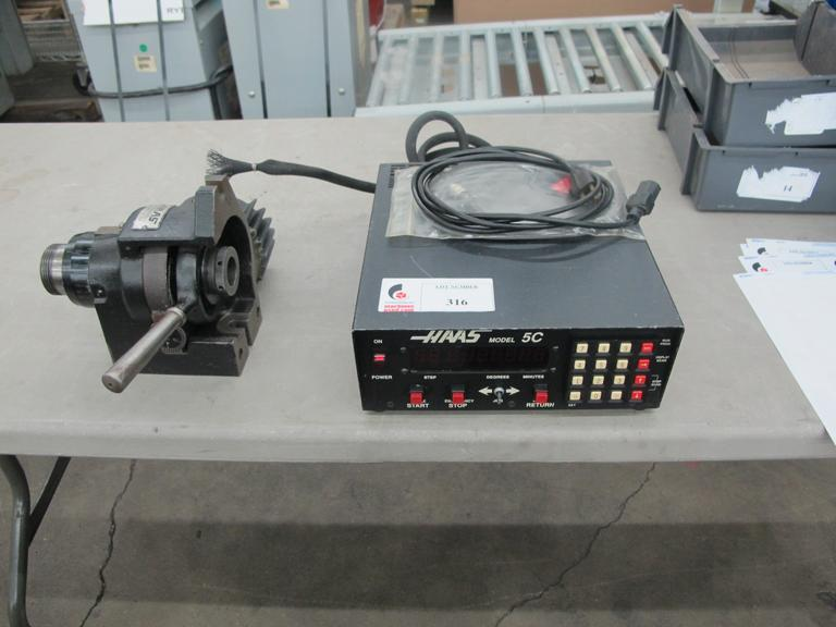 Haas HA5C Brush Type Rotary Indexer With Haas Model 5C Servo Control Box