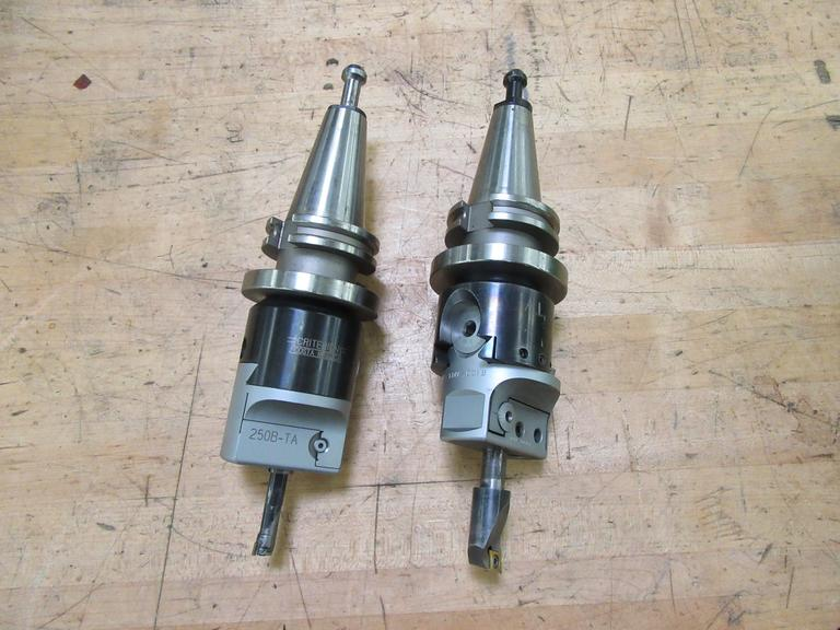 (2) CAT 40 Taper Criterion Offset Boring Head Tool Holders