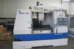 Daewoo Mynx 540 CNC Vertical Machining Center, 40 Taper, Fanuc 21iM CNC Control