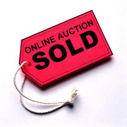 Industrial Online Auction with a SOLD Tag.