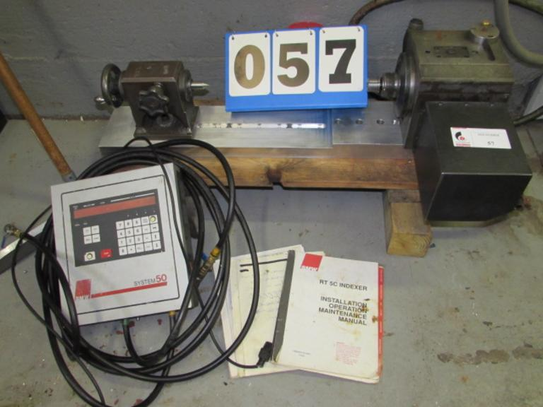 SMW RT-5C Programmable Rotary Table with Controller and Tailstock