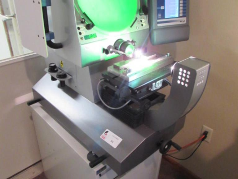 Tesa Scope II Model 355H Optical Comparator with DRO and Lista Cabinet Base