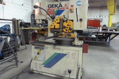 Geka Hydra Crop Model 55/A 60 Ton Hydraulic Ironworker, Front and Rear Independent Controls