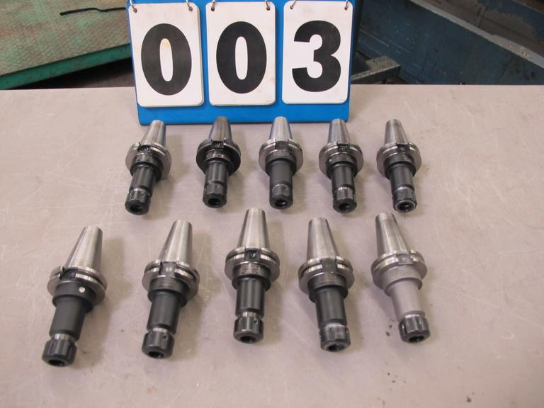 (10) Redline & Command Cat-40 Taper ER-20 Collet Tool Holders