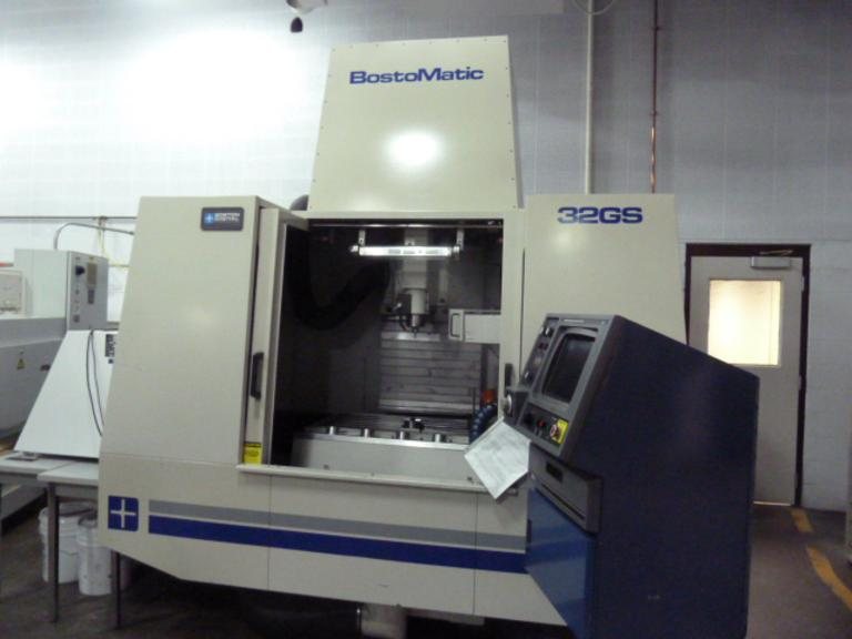 Bostomatic Model BD32GS CNC 25,000 RPM Vertical Machining Center
