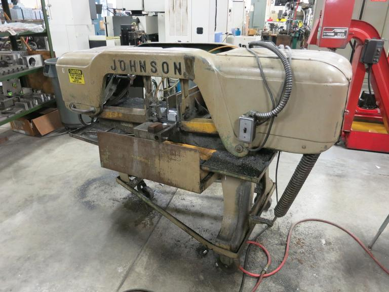 "Johnson Model J Horizontal Bandsaw, 9"" Round Capacity, 3/4"" Blade, 3/4 HP - Single Phase Power"