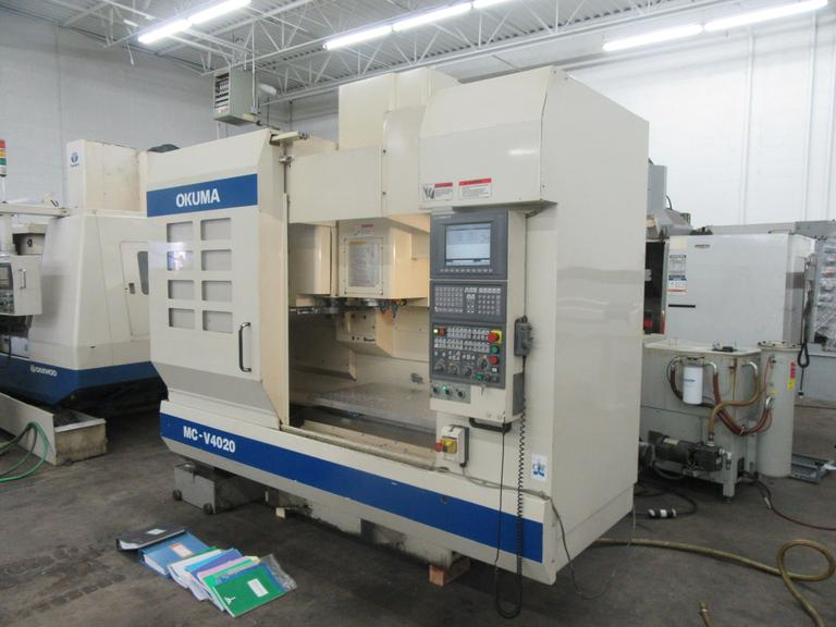 Okuma MC-V4020 CNC Vertical machining Center with Chip Blaster Thru Spindle Coolant