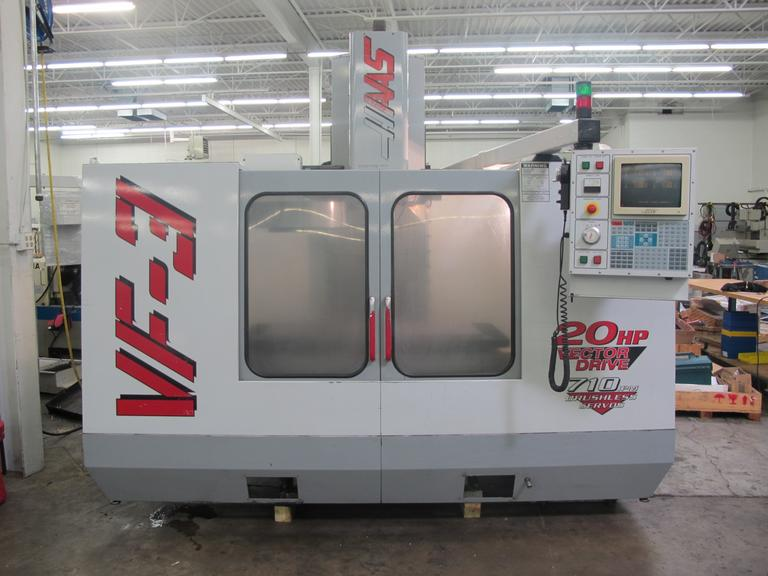 Haas VF-3B CNC Vertical Machining Center, 2-Speed Gearbox, Thru-Spindle Coolant