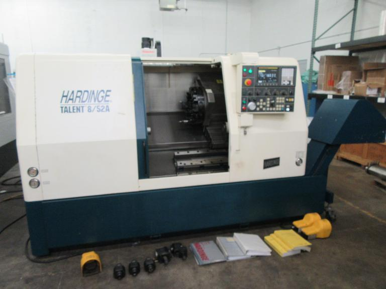 Hardinge Talent 8/52A CNC Turning Center with Fanuc Oi-TB Control and Live Miling