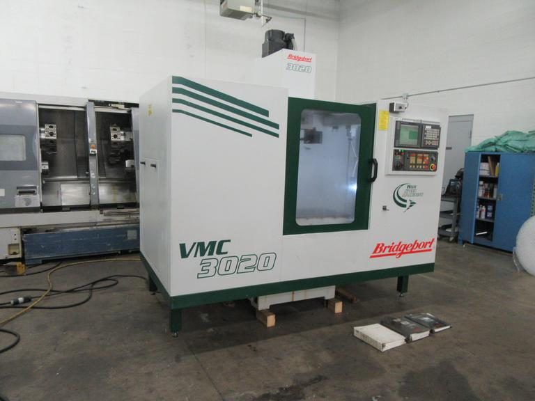 Bridgeport VMC 3020 CNC Vertical Machining Center with Fanuc 21iM CNC Control