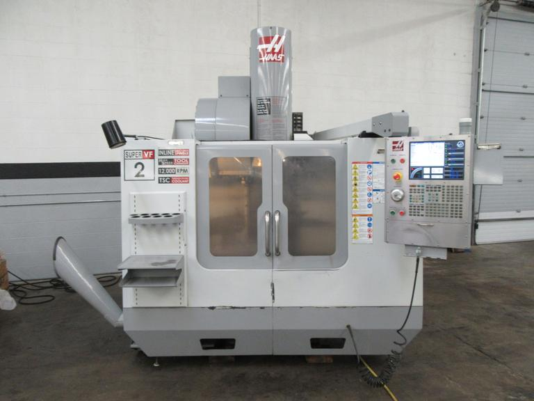 Haas VF-2SS CNC Vertical Machining Center with 300PSI Through Spindle Coolant and Brushless 4th Axis Drive