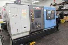 Doosan Puma TT1800SY Dual Spindle Dual Turet CNC Turning Center with Live Milling, Y-Axis and Bar Feeder