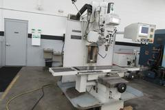 Milltronics MB19 CNC 3-Axis Bed Mill with Centurion 6 CNC Control, Swiveling Milling Head with Power Quill Feed