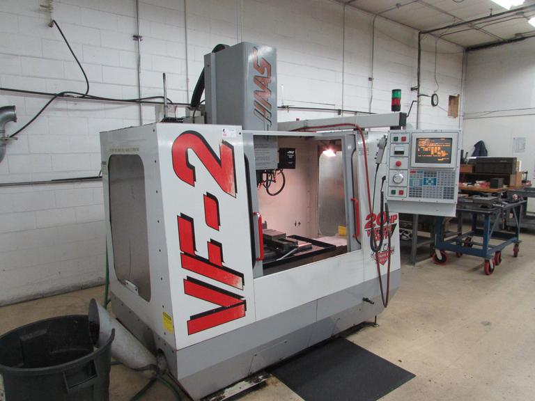 Haas VF-2 CNC Vertical Machining Center with 20 HP Vector Spindle Drive
