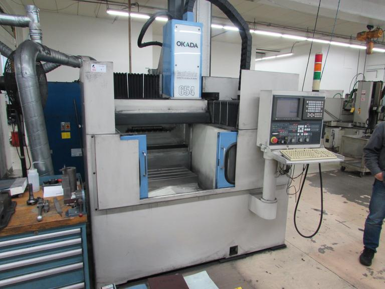 Okada Graphite Master 654 CNC Vertical Machining Center with 25,000 RPM Spindle
