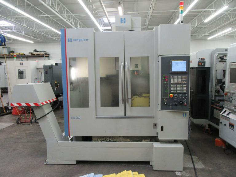 Hardinge - Bridgeport Model XR 760 5-Axis CNC Vertical Machining Center with Nikken 2-Axis Programmable Trunnion Table