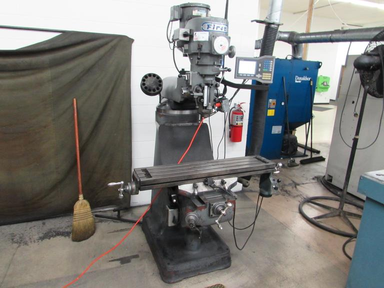 Sharp First Model LMV Vertical Tool Room Mill with Power Feed and 2-Axis DRO