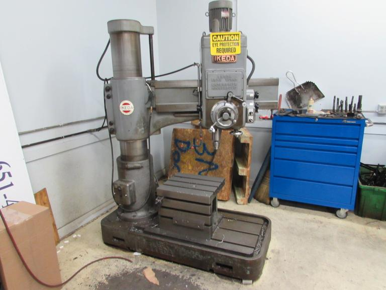 Ikeda RM1000 Radial Arm Drill with Box Table