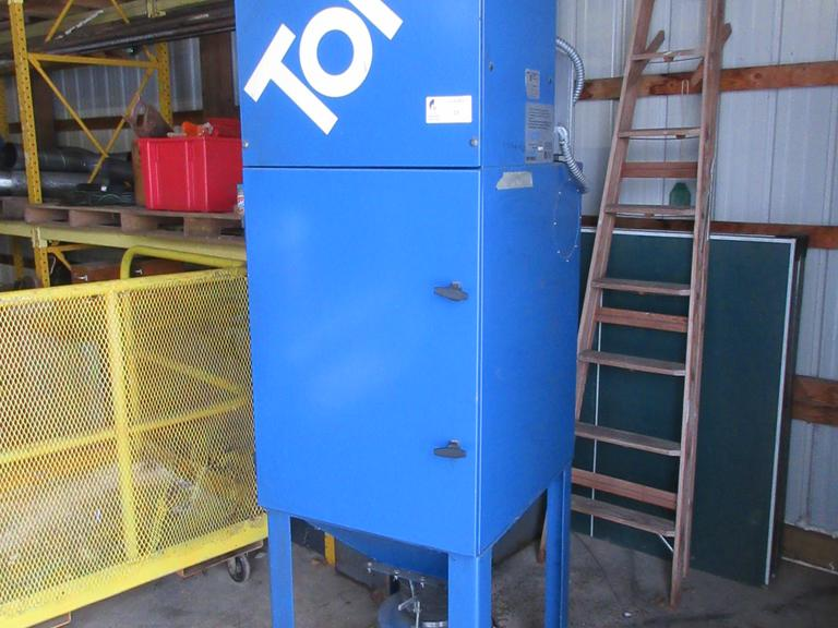 Donaldson Torit Model VS1200 Dust Collector with SteelStand and Bucket Drop