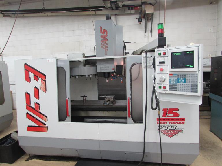 Haas VF-3 CNC Vertical Machining Center with 10,000 RPM Spindle
