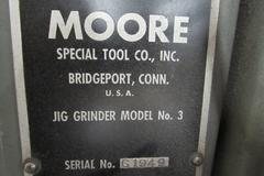 Moore Model G18 Jig Grinder with 40,000 RPM Grinding Head, Acu-Rite 2-Axis DRO, Assorted Stones, and Hold Downs