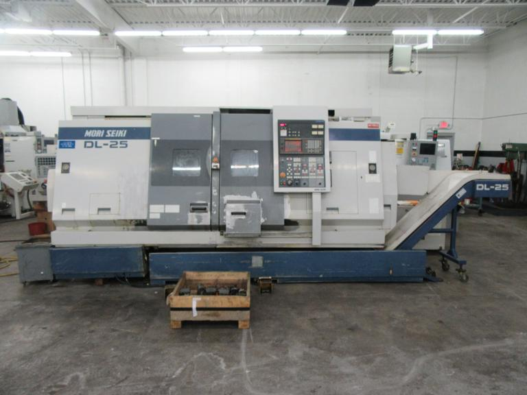 Mori Seiki DL-25MC Dual Spindle, Dual Turret CNC Turning Center w Live Milling on Both Turrets,