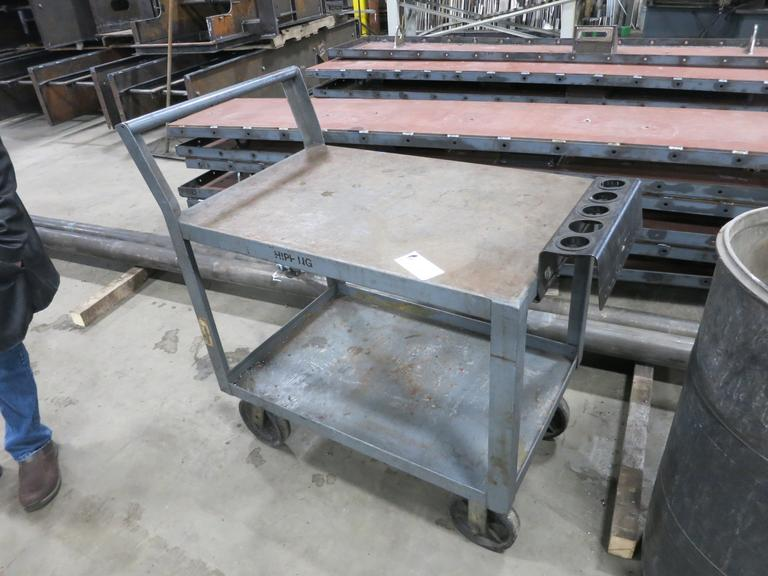 Steel Shop Cart with (5) 40 Taper Tool Stations