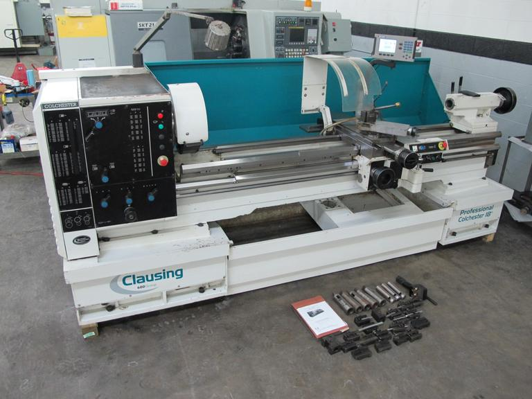 "Clausing Colchester V460 Variable Speed 18"" x 80"" Gap Bed Engine Lathe with Acu-Rite 200S Digital Readout"
