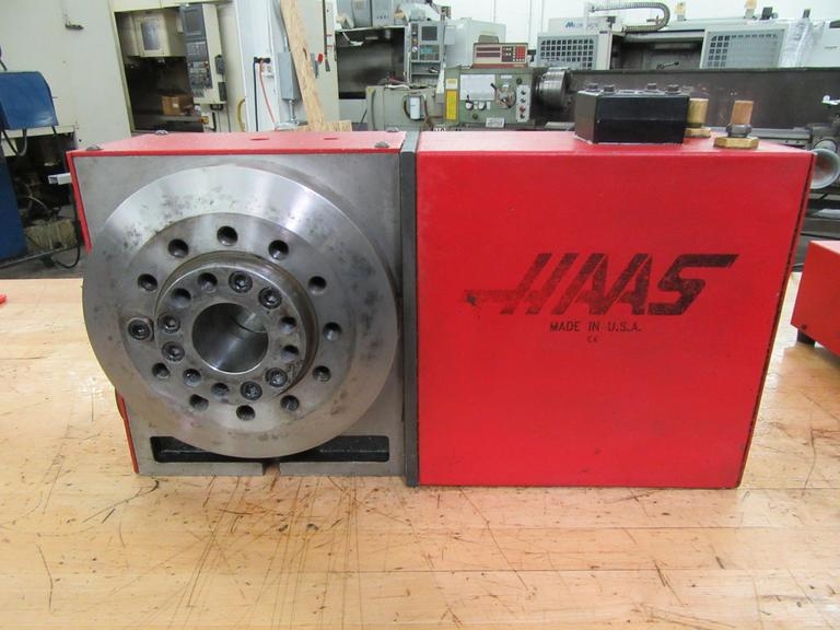 "Haas HRT-A6 Programmable Rotary Table with A2-6"" Work Pallet, Brush Drive Motor, Cable and Connector"