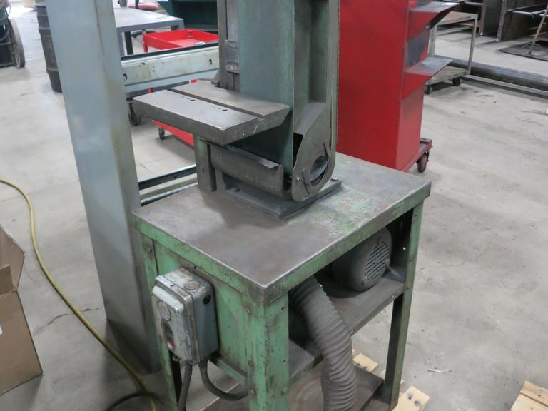 "Hammond 6"" Belt Grinder / Sander, 11.5"" x 7"" Work Table, with Stand"