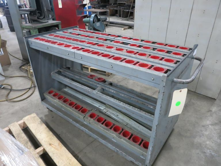 Heavy Duty 50 Taper Tool Cart with Approximately 82 Tool Stations