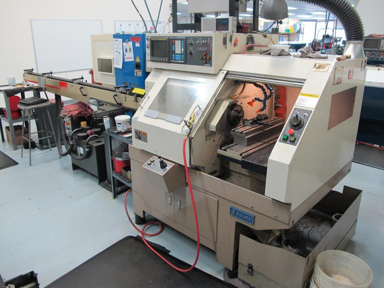 Eguro Nuclet 10GL CNC Gang Style Turning Center with SMW Barfeed