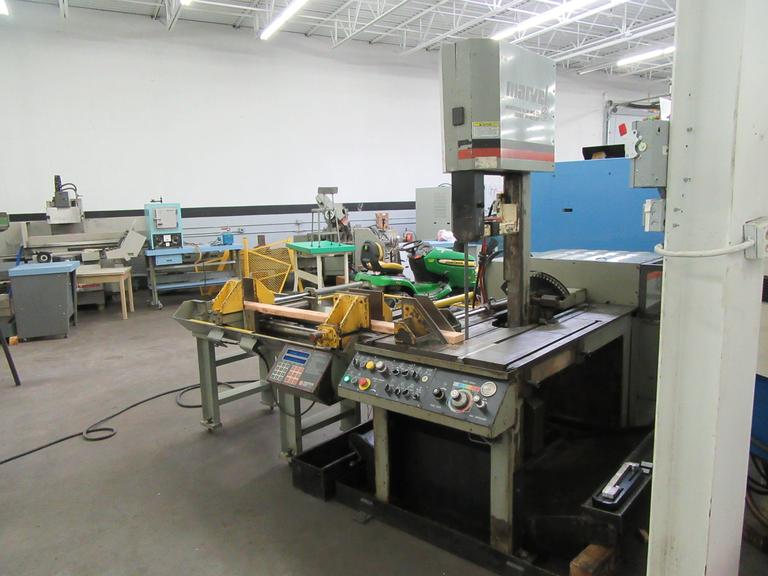 Marvel MV 460PC/2 Programmable Tilting Vertical Bandsaw with Programmable Stock Feed and Tilting Frame