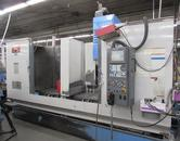 Mazak VTC-200C CNC Vertical Machining Center with Haas HSR310 Rotary Indexer