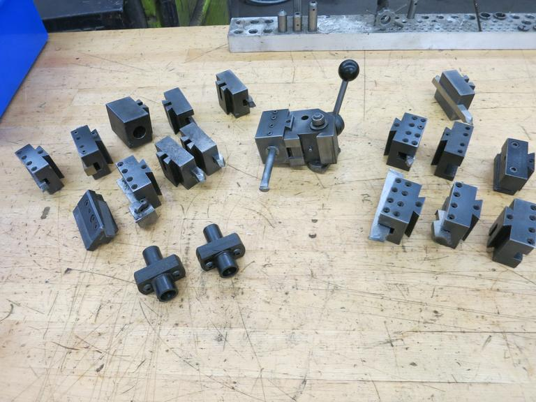 Hardinge Model L18 Tool Post with Assorted Holders and More
