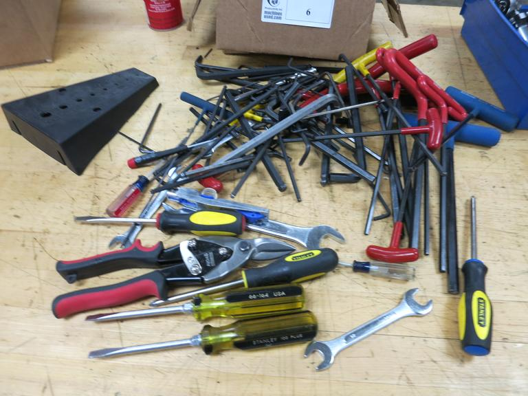 Hand Tools, Assorted, Including Many Alan Wrenches.
