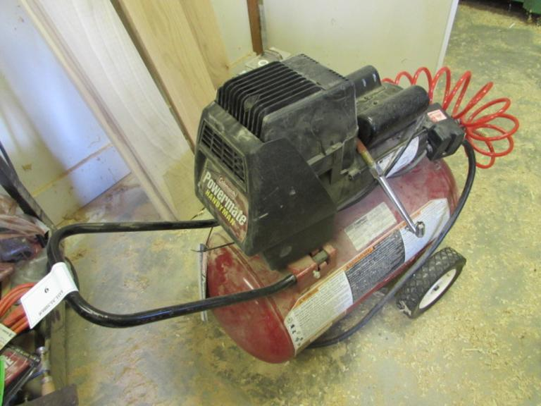 Coleman Powermate Handyman 4HP 11-Gallon Air Compressor.  120Volt, Single phase Power