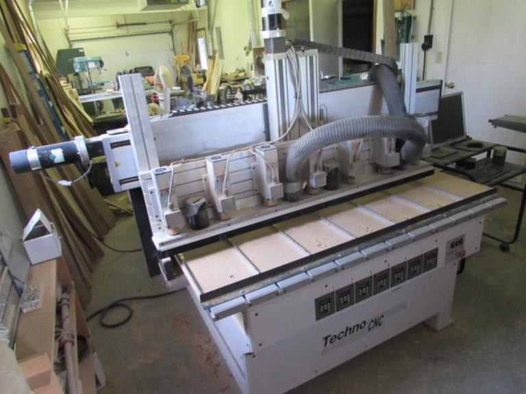 Techno-Isel Model RG5996 CNC Router with (7) 24,000 RPM Heads - Single Phase Power